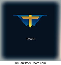 National flag Sweden - The combination of colors of the...