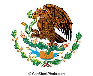 National flag symbol of Mexico