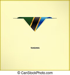 National flag Tanzania - The combination of colors of the...