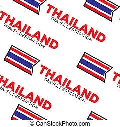 National flag Thailand travel destination seamless pattern