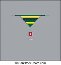 National flag Togo - The combination of colors of the...