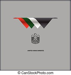 National flag United Arab Emirates - The combination of...