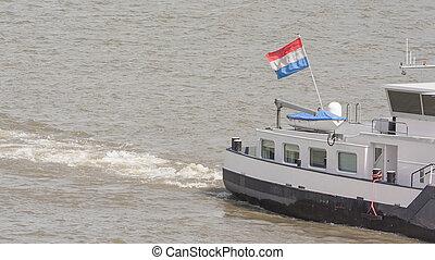 national flagg, skepp, nederländsk