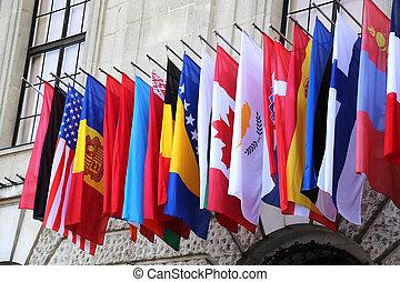 national, flaggen
