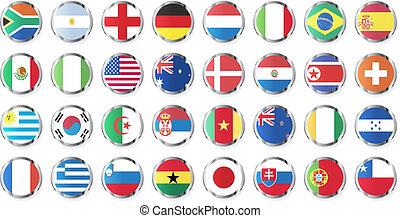 national, flaggen, länder
