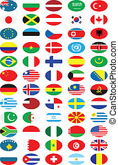 National flags collection