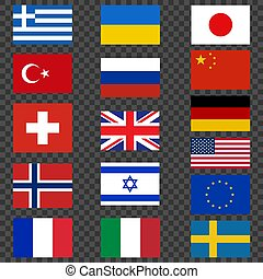 National flags. Flags of countries vector