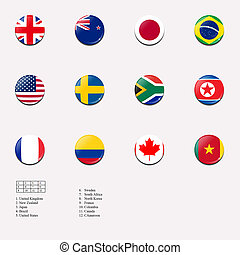 National flags for women football