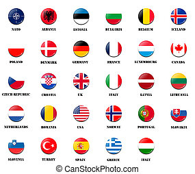 national flags from NATO members - national flags from NATO...