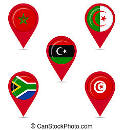 National flags of african countries