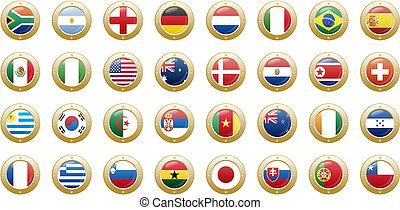 national flags of countries starting with south africa in...