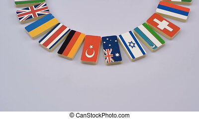 national flags of the world - Rotating flags of the world,...