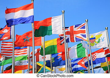 National flags  - The national flags all over the world