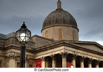 National gallery, Trafalgar square in London. - National...
