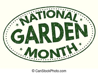 National garden month sign or stamp