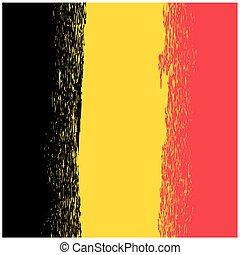 National Grunge Flag of Belgium