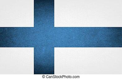 National Grunge Flag Of Finland