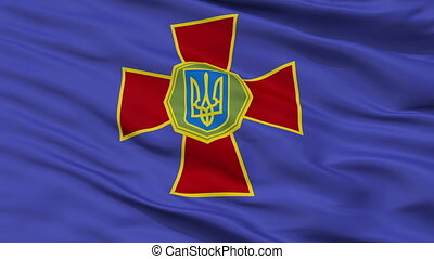 National Guard Of Ukraine Flag Closeup Seamless Loop -...