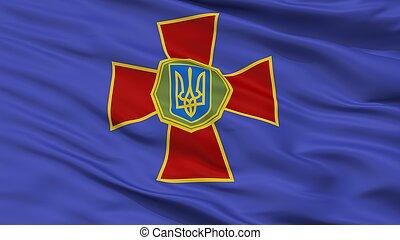 National Guard Of Ukraine Flag Closeup View - National Guard...