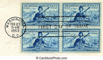 National Guard Stamps - U.S. Postage Stamps commemorating...