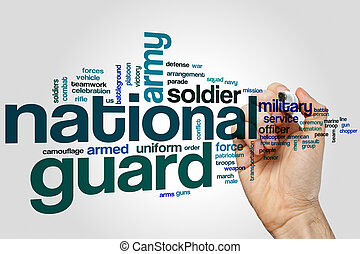 National guard word cloud concept