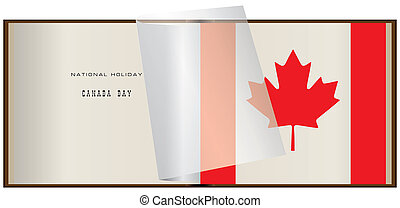 National holiday Canada Day - Opened album with pasted...