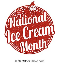 National ice cream month stamp