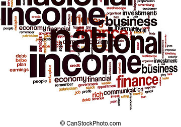 National income word cloud