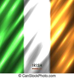 National Irish flag background. Country Ireland standard...