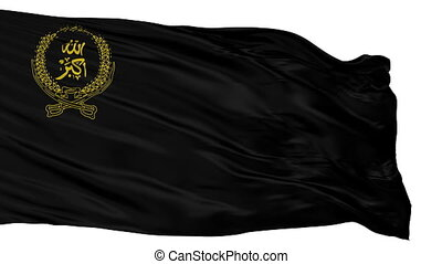 The National Islamic Front Of Afghanistan Flag, Isolated View Realistic Animation Seamless Loop - 10 Seconds Long