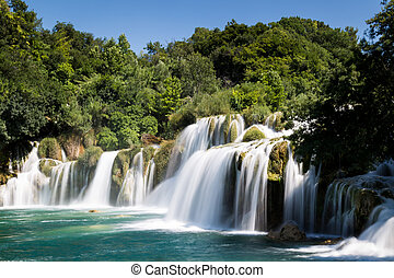 national, krka, park, wasserfall