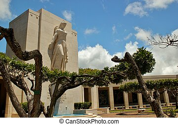 The National Memorial Cemetary of the Pacifice (Punchbowl Cemetary) in Hawaii