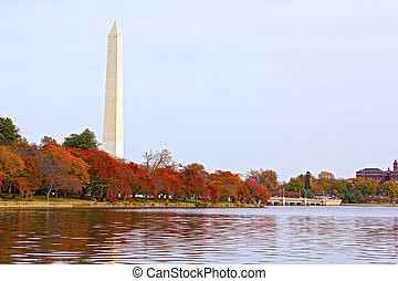 National Monument and Tidal Basin - A peaceful fall ...