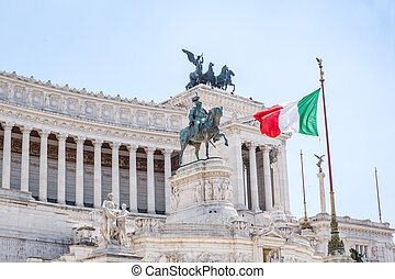 National Monument to Victor Emmanuel II, Piazza Venezia in Rome, Italy
