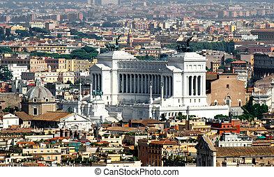 national monument to Vittorio Emanuele II called Vittoriano