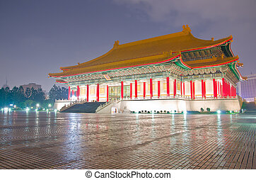 National Music Hall of Taiwan in a cloudy evening