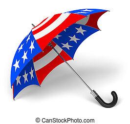 national, parapluie, drapeau, nous