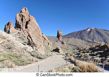 National park Canadas at Teide volcano. Tenerife, Canaries