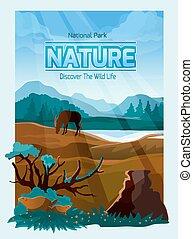 National park nature background banner - National park wild...