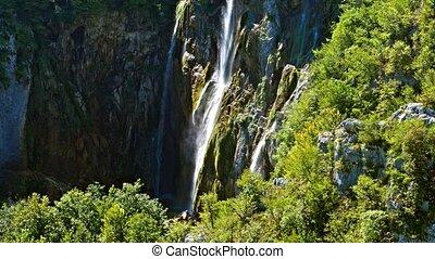 National Park Plitvicka jezera. Europe 4K