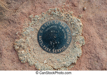 National Park Service Marker in Islands in the Sky