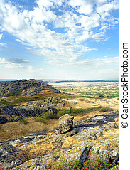 "National Park "" Stone Tombs "". Donetsk. Ukraine"