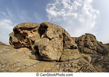 Rock erosion. Weathered. Geological formations