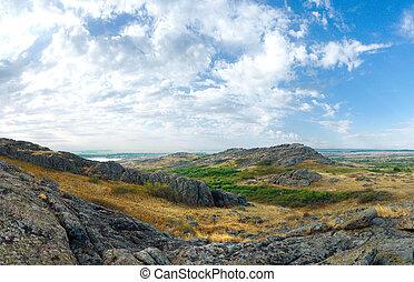 National Nature Sanctuary. Donetsk. Ukraine