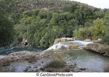 national, parklandschaft, von, krka, in, kroatien