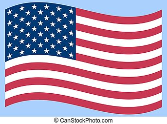 National political official US flag on a white background. vecto
