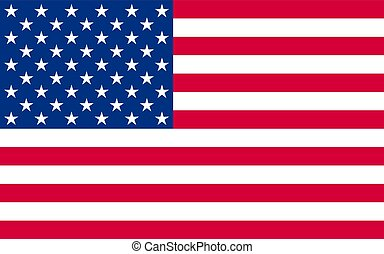 National political official US flag, Vector illustration