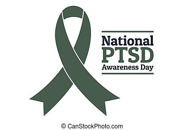 National PTSD Awareness Day concept. June 27. Template for ...