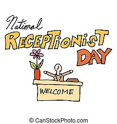 national receptionist day - An image of a national...