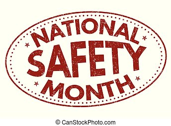National safety month sign or stamp